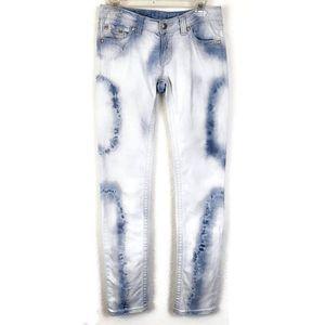 Miss Me Sunny Skinny Tie Dye Light Wash Jeans Sz27